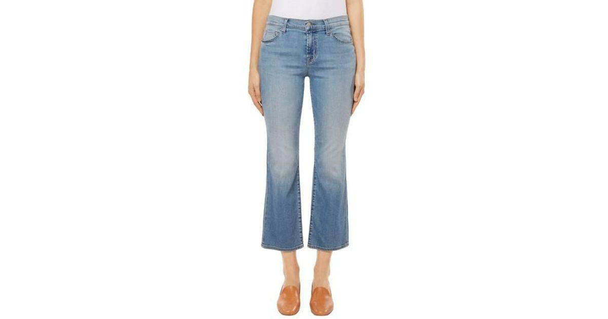 b361d0c42947 Lyst - J Brand Selena Crop Bootcut Jeans in Blue
