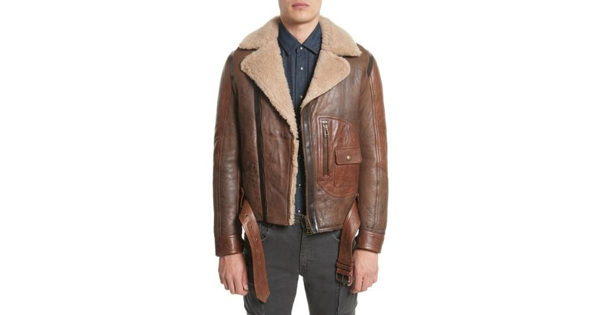 incredible prices run shoes new products Belstaff Brown Danescroft Shealing Leather Jacket for men