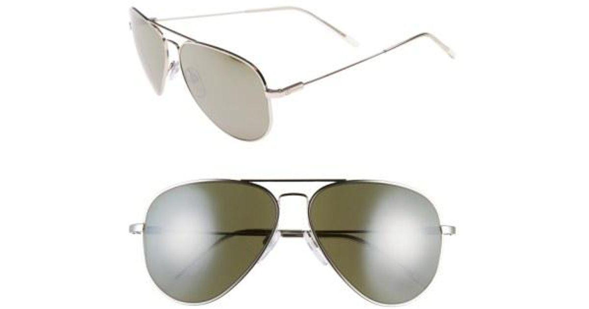 58b92576635 Lyst - Electric  av1 Xl  62mm Aviator Sunglasses - in Brown