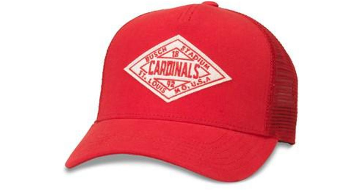 552fbac1bb9c92 Lyst - American Needle Valin Mlb Trucker Hat in Red for Men