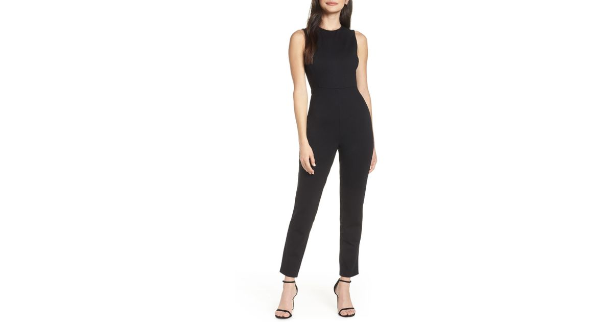 75d5a0fdbc5 French Connection Sundae Lula Sleeveless Jumpsuit in Black - Lyst