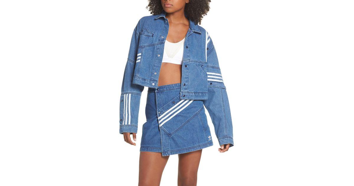 8a0d08778e Lyst - adidas Originals X Danielle Cathari Cropped Denim Jacket in Blue
