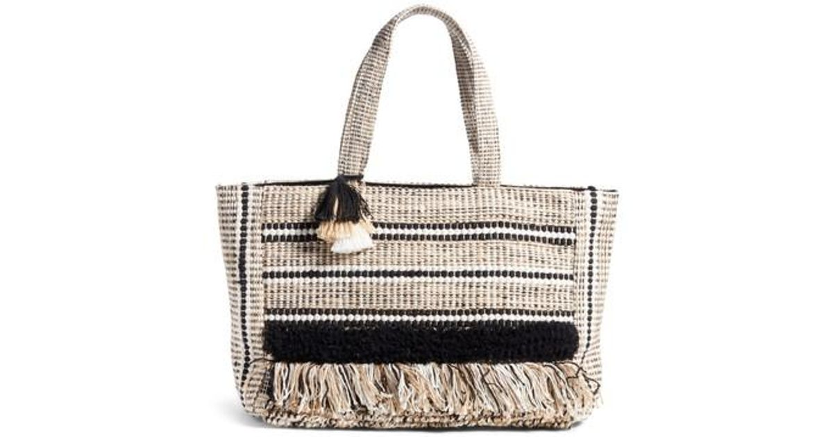 6302f6f3321f Amuse Society Carried Away Woven Weekend Tote - Lyst