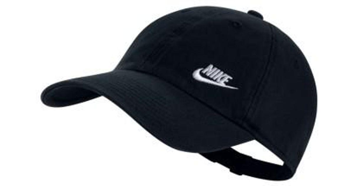 Lyst - Nike Women s H86 Swoosh Hat in Black 862fbb047f