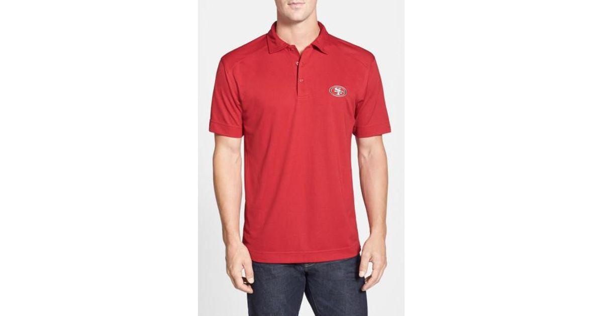 8a553da29 Lyst - Cutter   Buck  san Francisco 49ers - Genre  Drytec Moisture Wicking  Polo in Red for Men