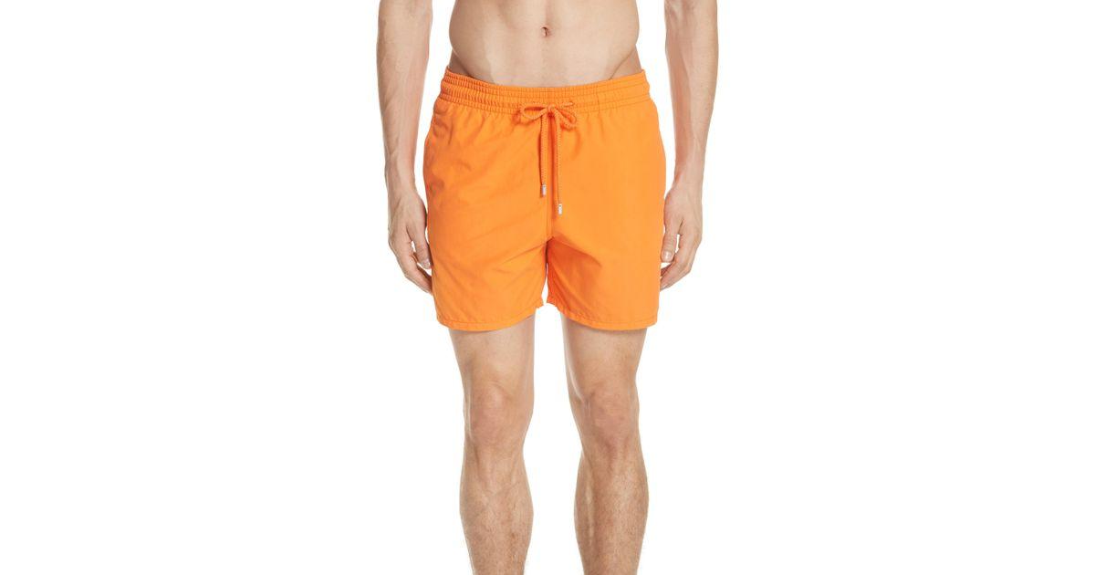 a0e4994658 Lyst - Vilebrequin Fire Dance Water Reactive Swim Trunks in Orange for Men