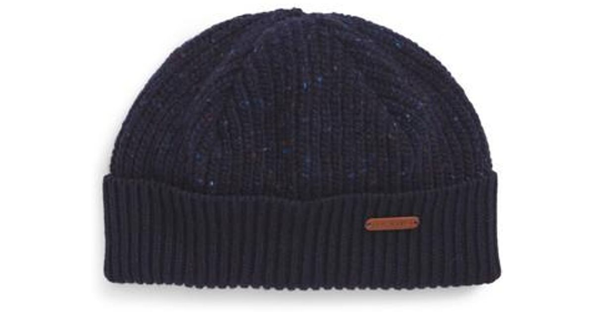 4a949d17398 Lyst - Ted Baker Oakhat Knit Cap in Blue for Men