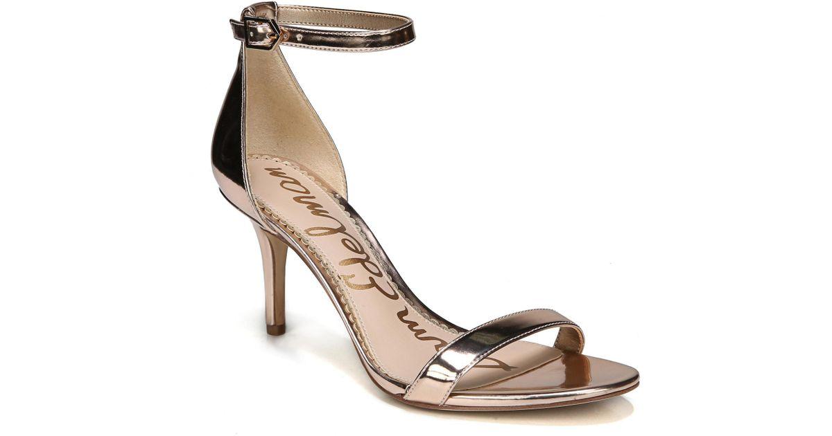 057b5a839906 Lyst - Sam Edelman Patti Ankle Strap Sandal in Metallic