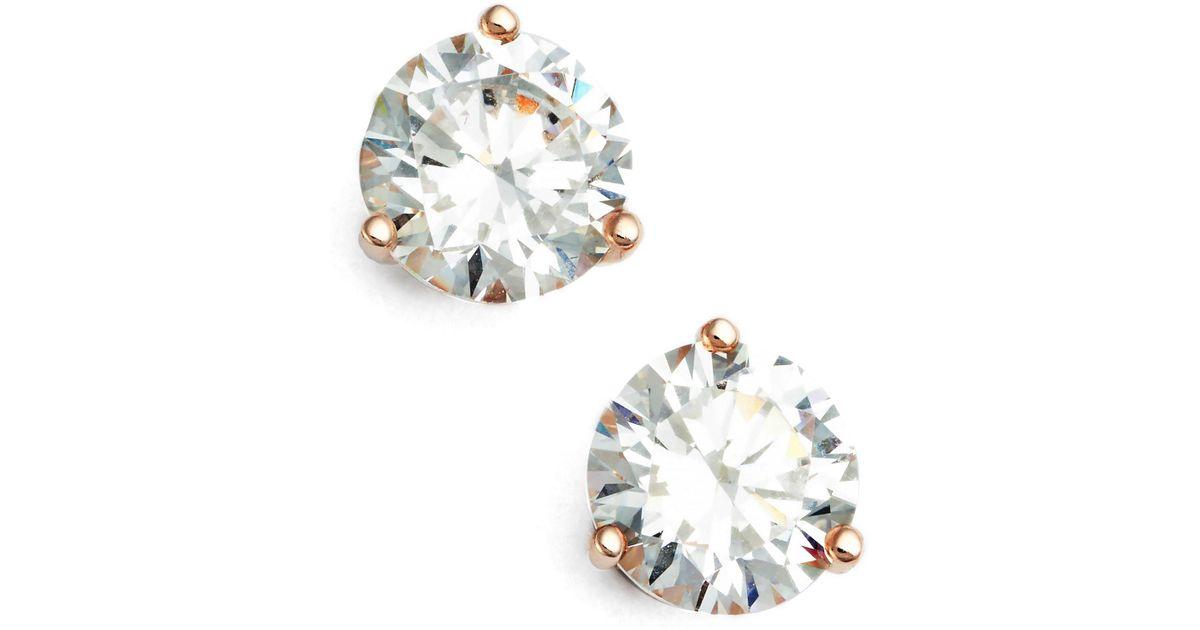 6fe170ab482ecf Lyst - Nordstrom 2ct Tw Cubic Zirconia Earrings in Metallic