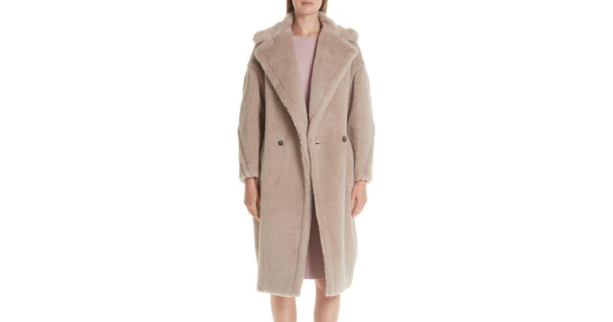 Lyst - Max Mara Ginnata Teddy Bear Icon Faux Fur Coat in Natural be5658cd87b