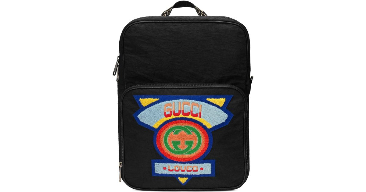 2b55f50314d1 Lyst - Gucci Patch Backpack - for Men