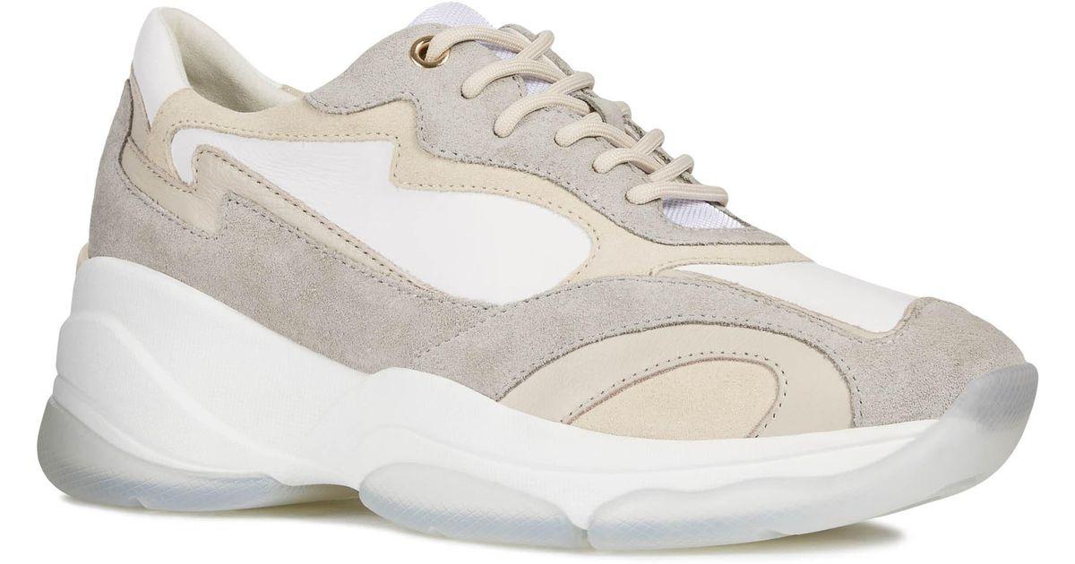Geox Kirya Sneaker in White/ Light