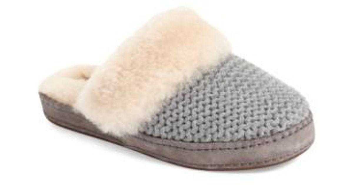 1d673215d52 Ugg Gray Ugg Aira Knit Scuff Slipper