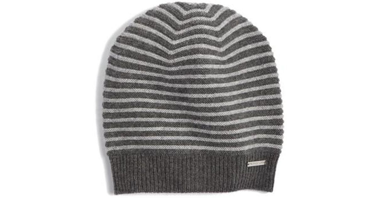 ca6d0280aa914 Lyst - MICHAEL Michael Kors Double Links Wool   Cashmere Hat in Gray