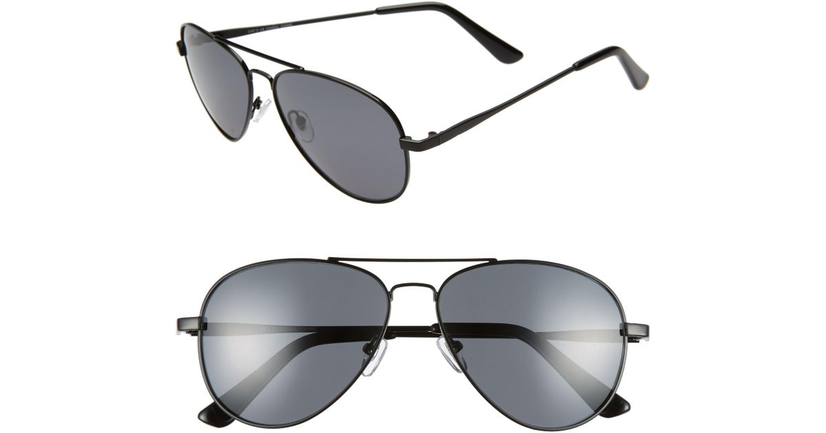 a8a05375f4 Lyst - Nordstrom 1901 Davis 59mm Polarized Aviator Sunglasses in Gray for  Men