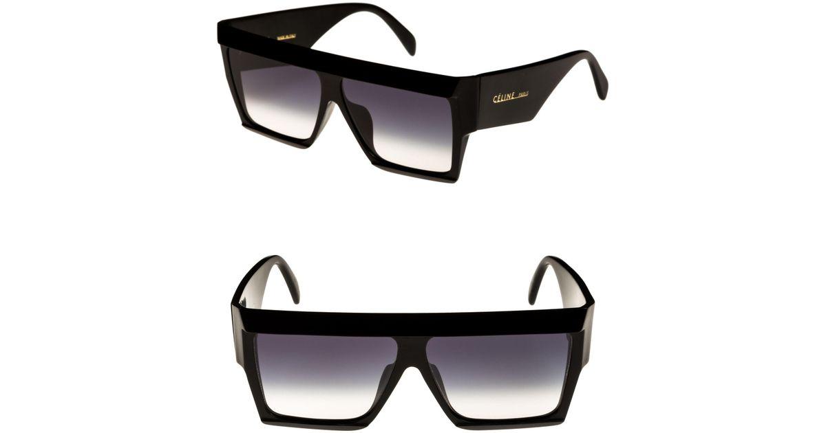 9ca246640cc3d Céline Bold Angular Acetate Sunglasses in Black - Lyst