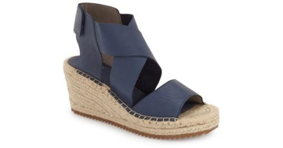 a46d63d29e4 Eileen Fisher Gray 'willow' Espadrille Wedge Sandal