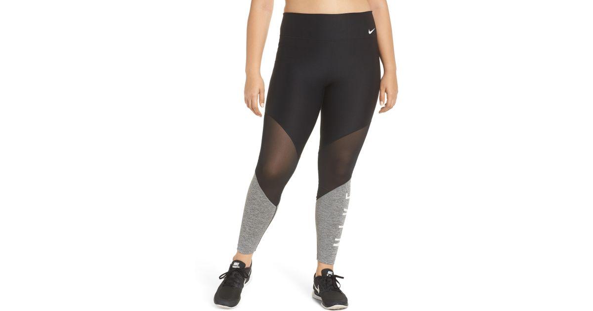 Lyst - Nike Power Mesh Training Leggings in Black 748fc762d26