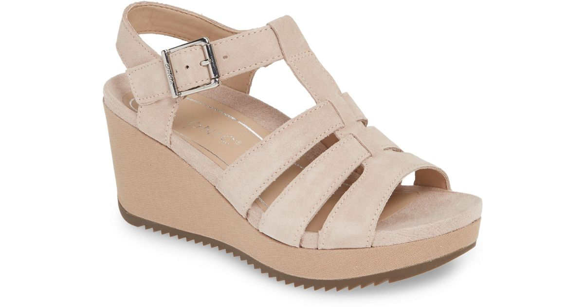 48867a9d5a28 Lyst - Vionic Tawny Wedge Sandal in Natural