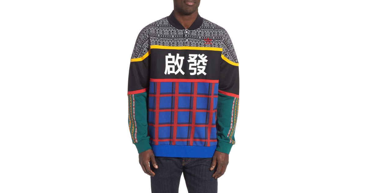 adidas Originals Pharrell Williams Solar Hu Hoodie Blue from Champs Sports | Real Simple