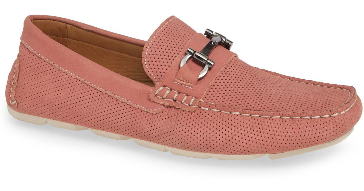 34204b418de Lyst - Nordstrom 1901 Avalon Driving Shoe in Pink for Men