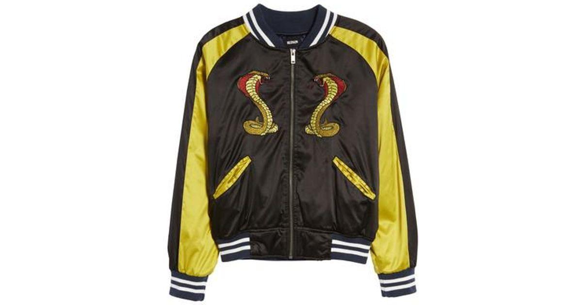 796679ef5 Hudson Multicolor Snake Satin Bomber Jacket