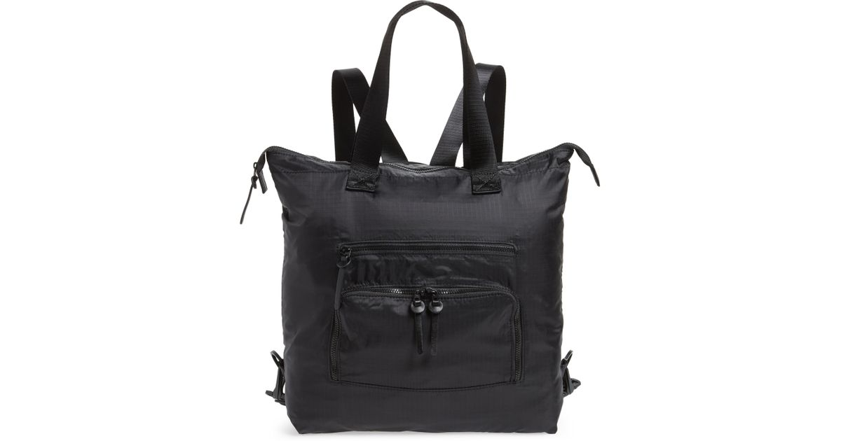 1381fab4f588 Lyst - Nordstrom Packable Convertible Backpack in Black - Save 41%