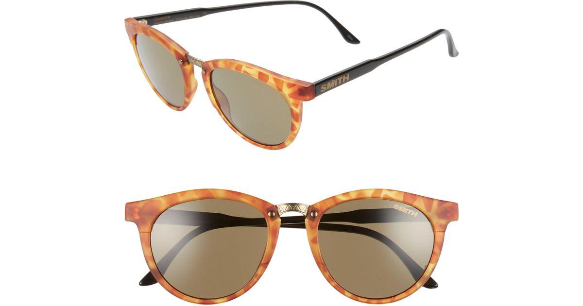 8ae30541ae Lyst - Smith Questa 49mm Chromapop Polarized Sunglasses - in Brown