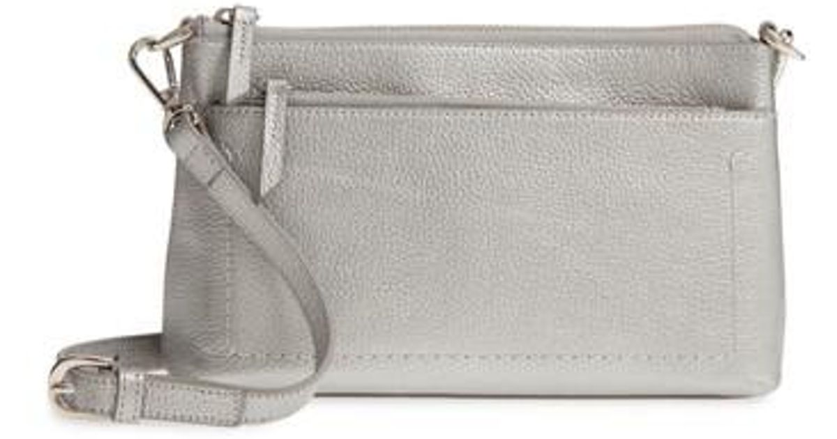 3b8036416823 Lyst - Nordstrom Brixton Convertible Leather Crossbody Bag With Pop-out  Card Holder - Metallic in Metallic