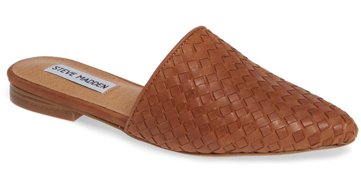 df5217383f3 Lyst - Steve Madden Timid Woven Mule in Brown