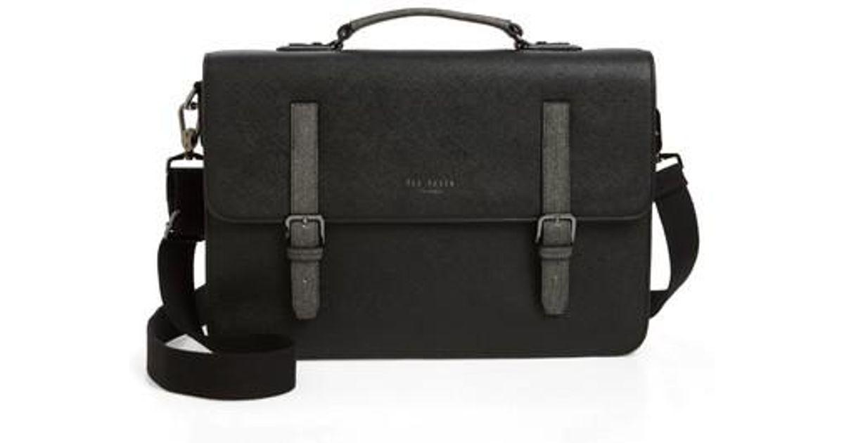 03a904fb8c41 Ted Baker Chase Messenger Bag in Black for Men - Lyst