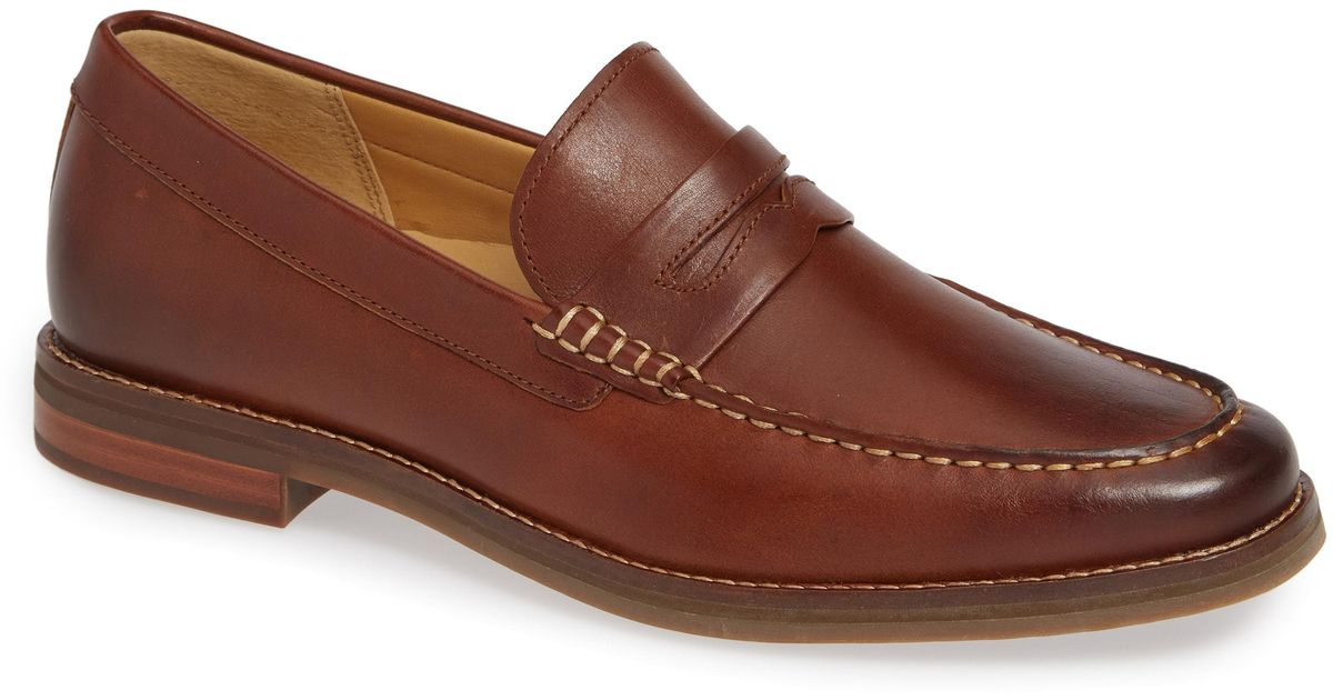 e2d70f36cd2 Lyst - Sperry Top-Sider Gold Cup Exeter Penny Loafer in Natural for Men