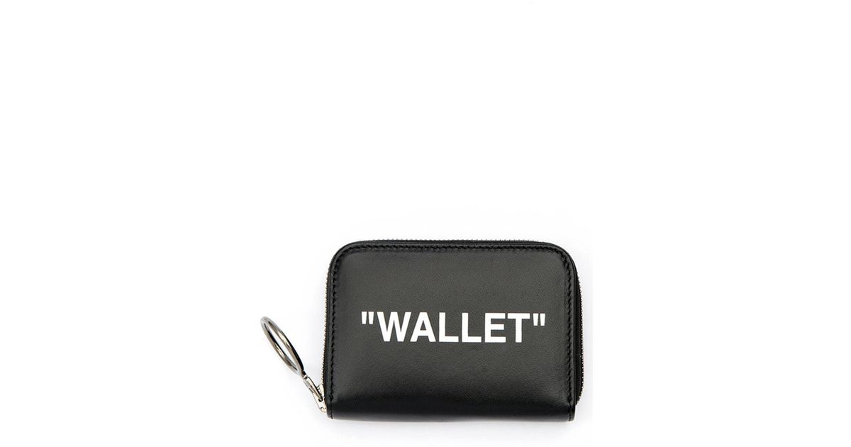 7d0e2c2bf001 Lyst - Off-White c o Virgil Abloh Printed Textured-leather Wallet in Black