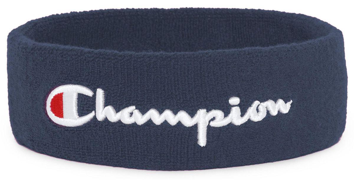 468e2238e477 Lyst - Champion Terry Logo Sweatband in Blue for Men