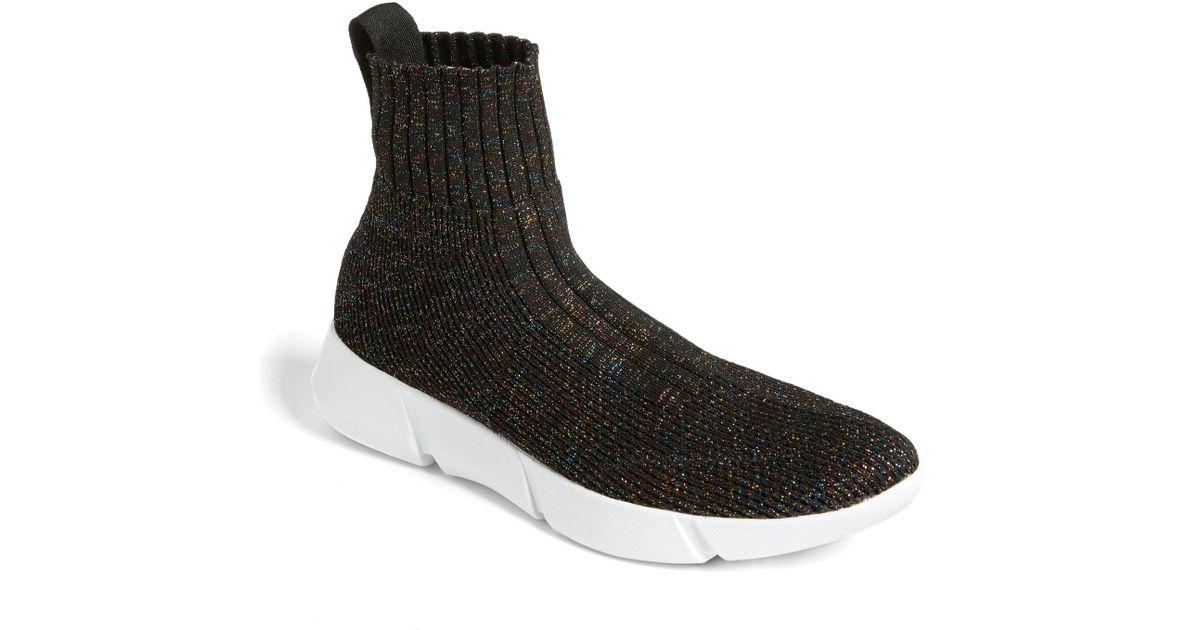 BP. Trak Sock Sneaker in Black - Lyst