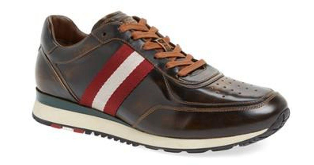 404c16736c5852 Lyst - Bally Aston Sneaker in Brown for Men