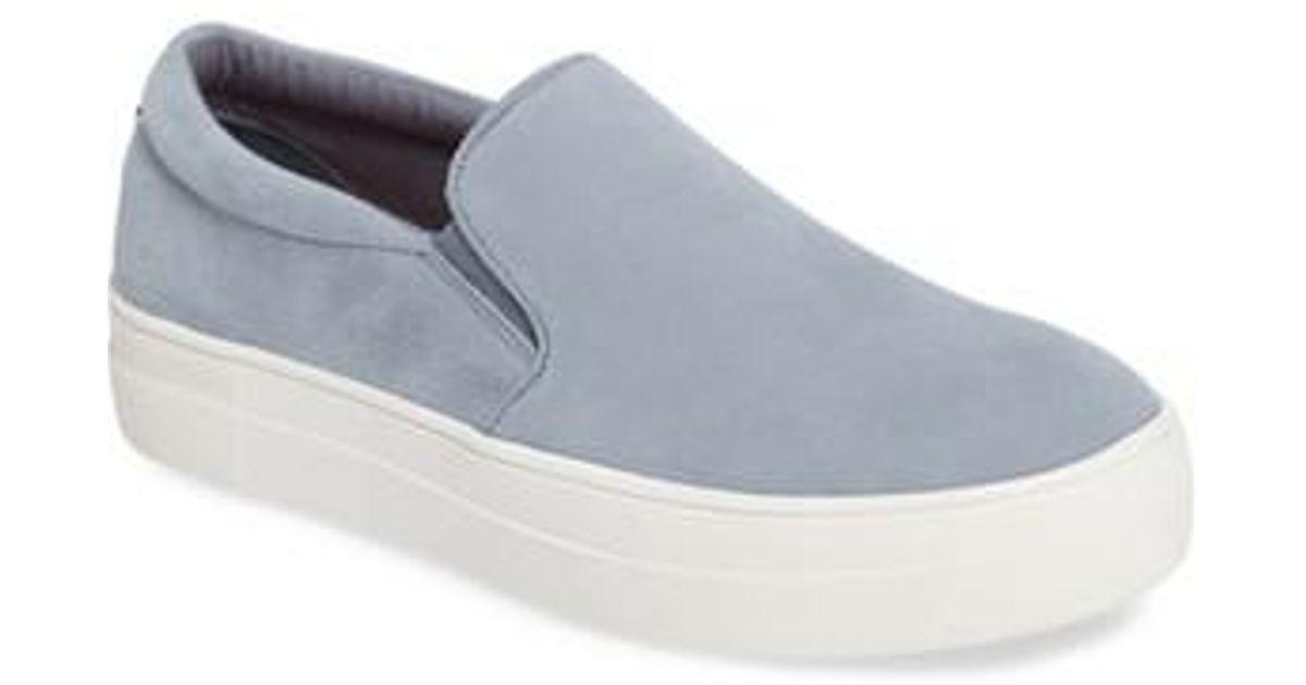 becc596030a Lyst - Steve Madden Gills Platform Slip-on Sneaker in Blue