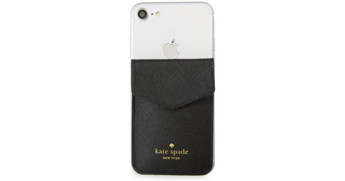 lyst kate spade iphone 7 8 x envelope sticker pocket in black