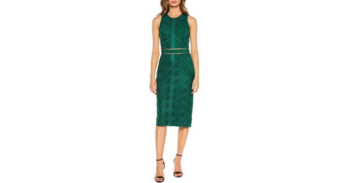 Bardot Green Eve Lace Dress
