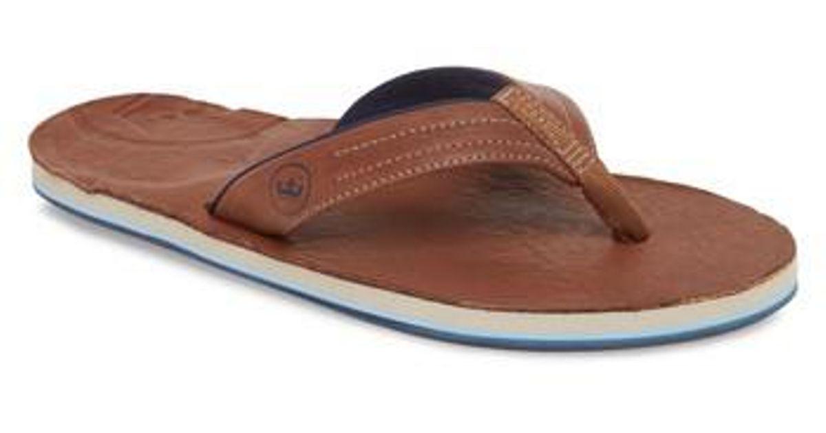b45b488424b0 Lyst - Hari Mari X Peter Millar Leather Flip Flop in Brown for Men