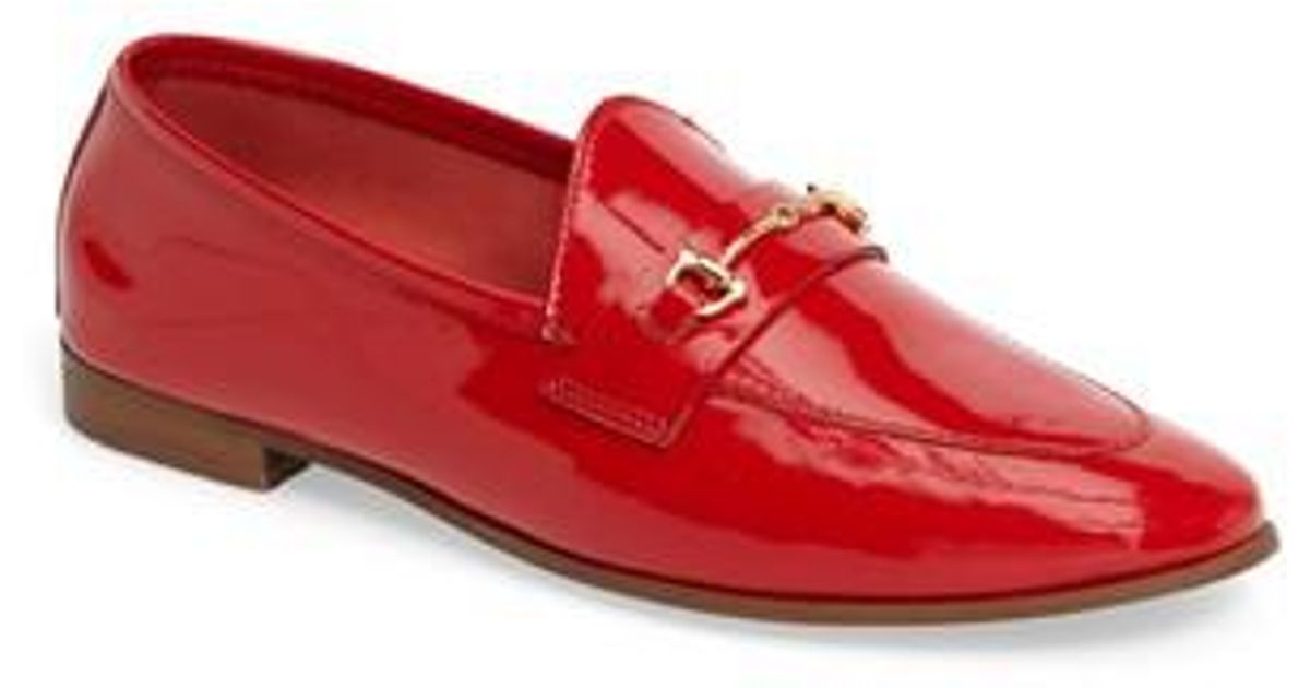 Women's Red Karpenter Loafer by Topshop