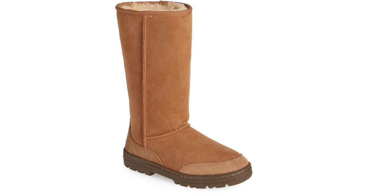 f94b9237f6a Ugg Brown Ugg Ultra Revival Genuine Shearling Tall Boot
