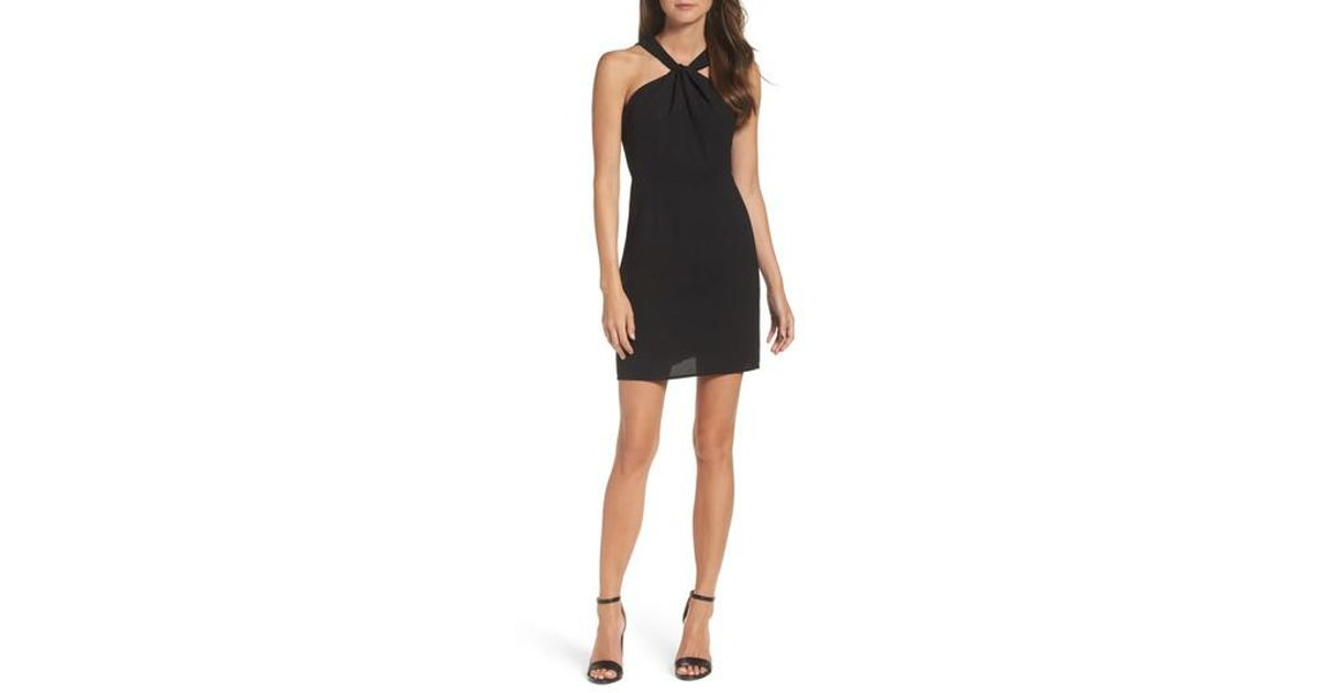 19 Cooper Black Lace Back Sheath Dress