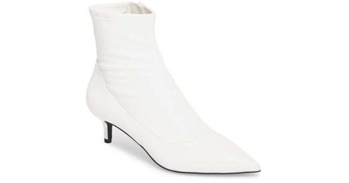 2dee0e0686e Free People White Marilyn Kitten Heel Bootie