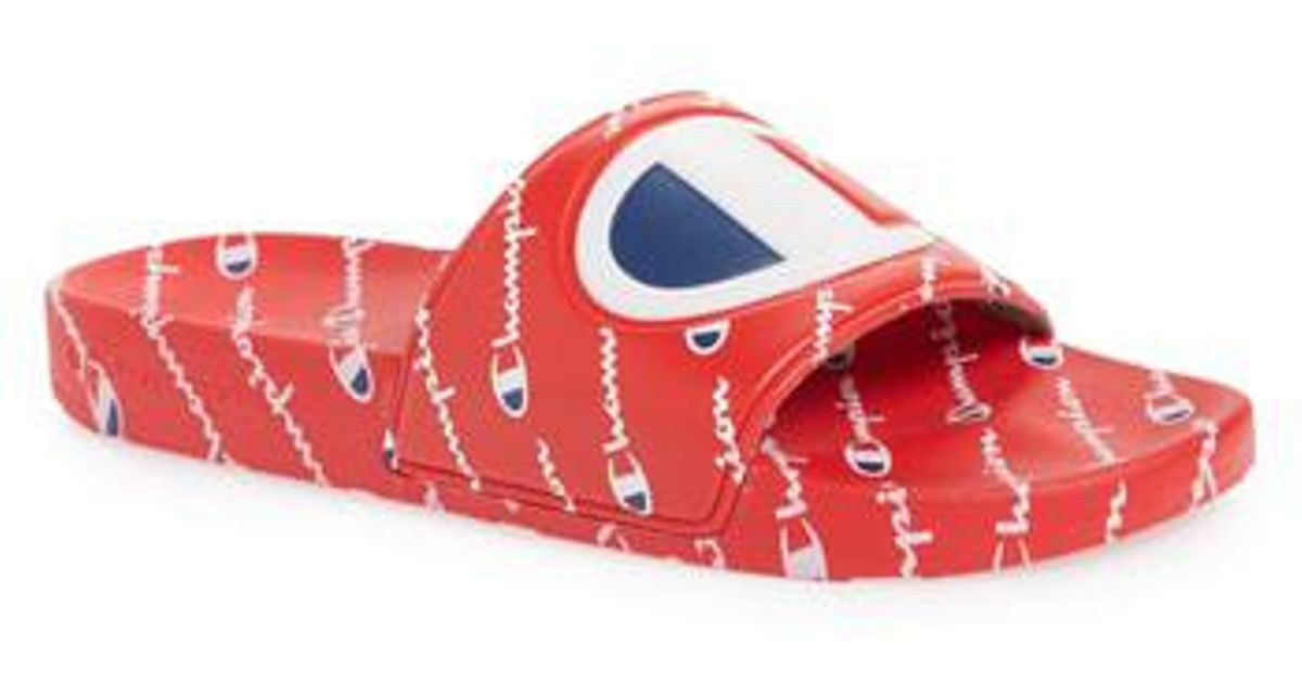 92a036322ba Lyst - Champion Ipo Repeat Sports Slide in Red for Men