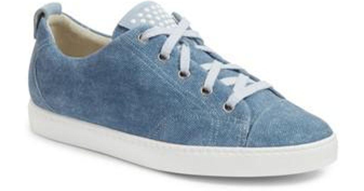innovative design d8dd8 76b51 Paul Green Blue Pearl Metallic Sneaker