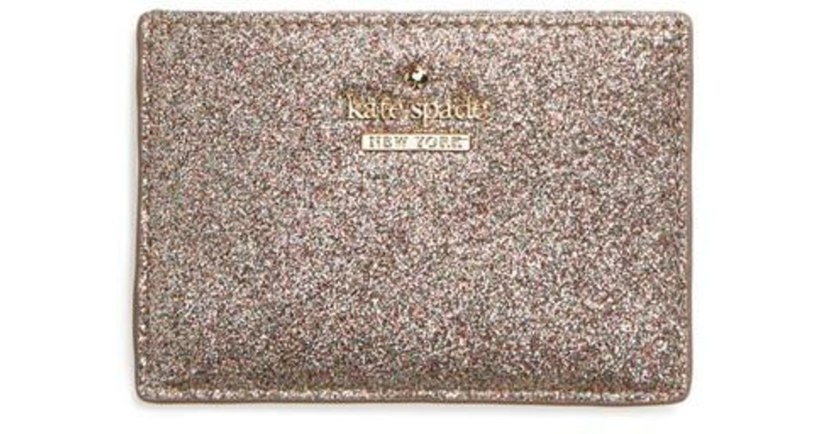 kate spade card holder glitter  Kate Spade Metallic Burgess Court Glitter Card Holder