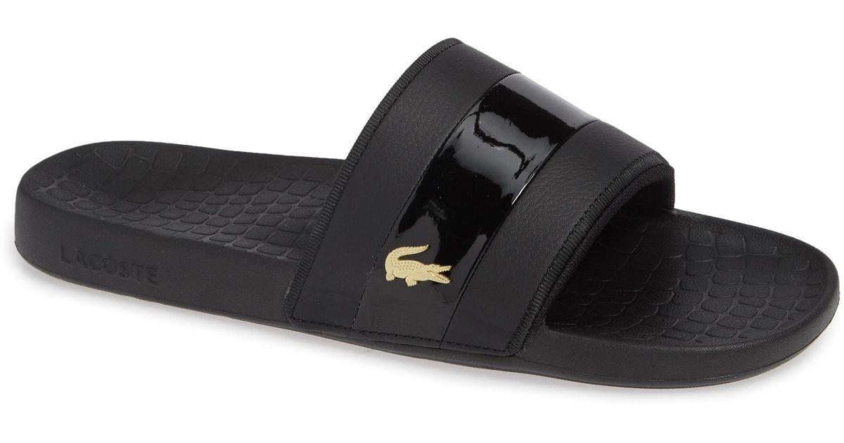 35b62bb00ca9 Lyst - Lacoste Fraisier 118 Slide Sandal in Black for Men