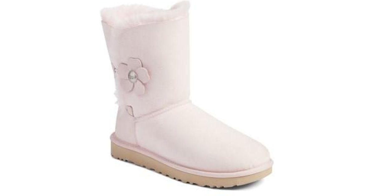 49fd2afa1ce Ugg Pink Ugg Bailey Button Poppy Genuine Shearling Boot