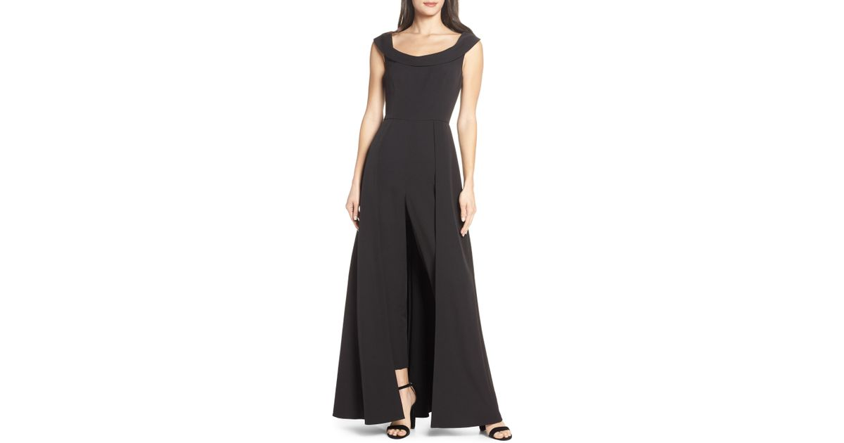 77ca0f69cbda Lyst - Kay Unger Jumpsuit Gown in Black